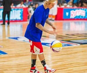 Basketball, justin bieber, and 2018 image