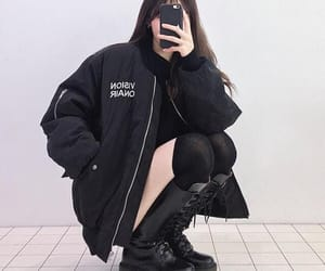 girl, black, and ulzzang image