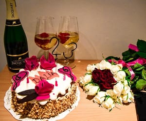 23, cake, and champagne image