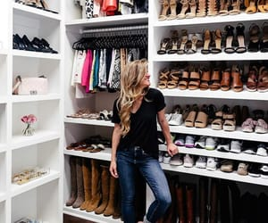 closet, girl, and shoes image