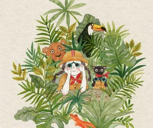 animals, illustration, and toucan image
