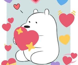 hearts, ice bear, and cute image
