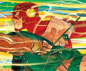 flash, dc comics, and green arrow image