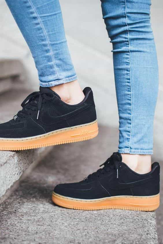 Nike Wmns Air Force 1 Suede Black On We Heart It