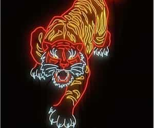neon and tiger image