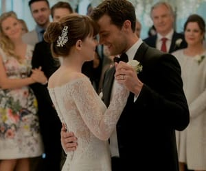 Jamie Dornan, wedding, and dakota johnson image