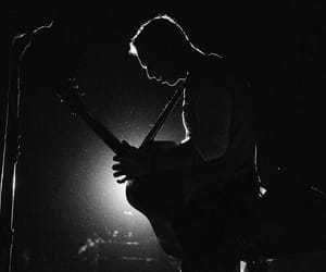 black and white, Chris Martin, and coldplay image