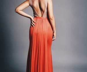 dress, prom dress, and red dress image