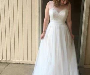 wedding dress, bridal dress, and spring wedding dress image