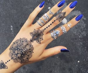 blue, nails, and royal image