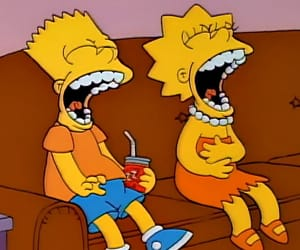 funny, laugh, and the simpsons image