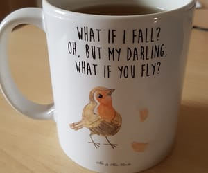 bird, cup, and pessimism image