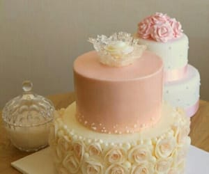 pink, cakes, and peach image