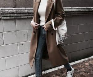 girl, fashion, and brown image