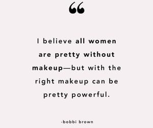 makeup, power, and quote image