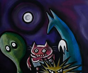 art, noel fielding, and Oil Painting image