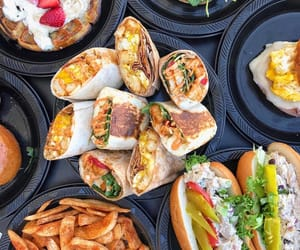 burrito, cheese, and fast food image