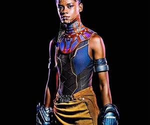 black panther, shuri, and Marvel image