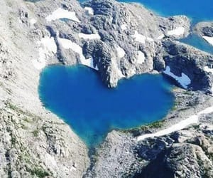 heart, blue, and nature image