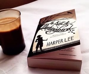book, to kill a mockingbird, and cofee image