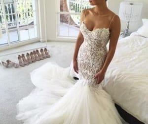 bridal, bridal dress, and mermaid wedding dress image