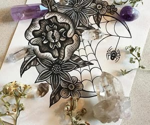 crystals, magick, and dried image