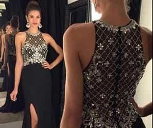 Prom, black prom dress, and prom dress image