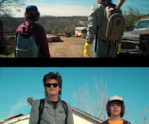 stranger things, dustin, and steve harrington image