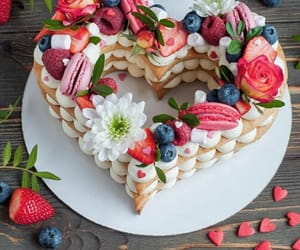 cake, delicious, and FRUiTS image