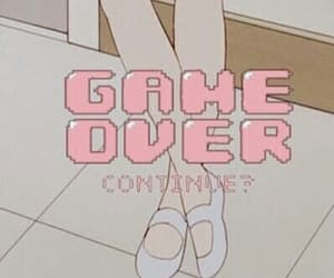 pink, game over, and pastel image