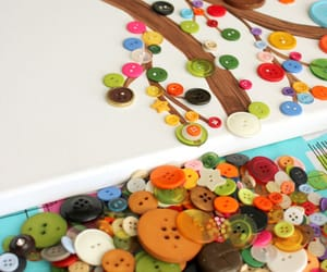 children, diy, and button tree image