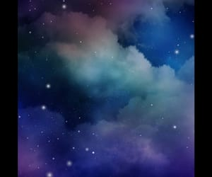galaxy, stars, and clouds image