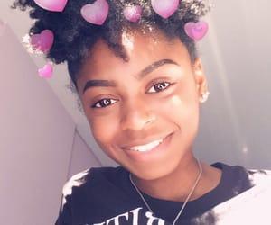 black, filter, and natural hair image