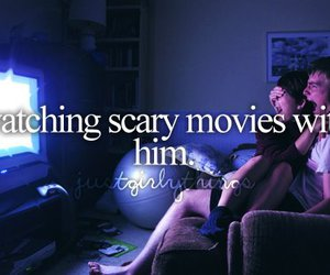 love, couple, and movies image
