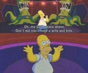 the simpsons, funny, and alien image