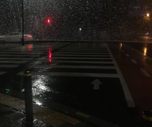 aesthetic, rain, and night image
