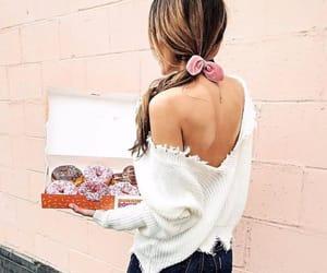 black, brunette, and donuts image
