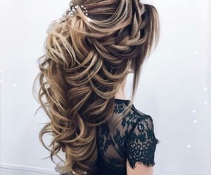 black, hairstyle, and blonde image