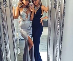 dress, beautiful, and silver image