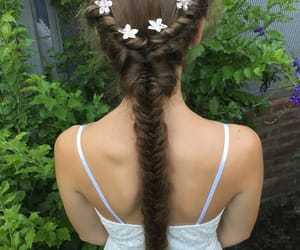 cool, flowers, and hairstyle image