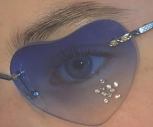 blue, heart, and sunglasses image