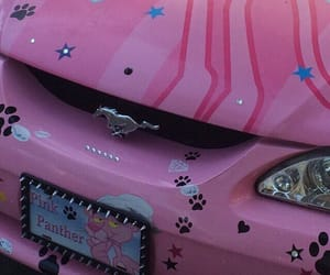 pink, aesthetic, and car image