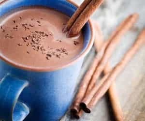 chocolate, hot ​chocolate, and Cinnamon image