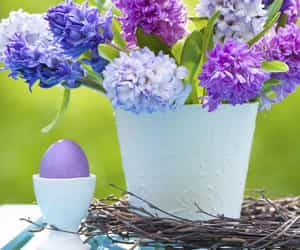 decorating, easter, and flowers image