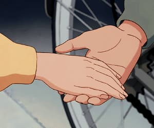 anime, hands, and love image