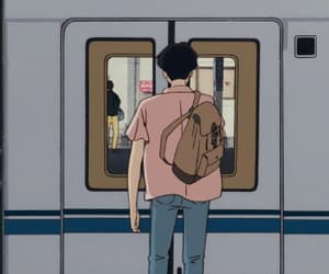 gif, anime, and train image