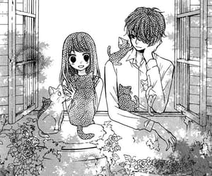 manga, couple, and monochrome image