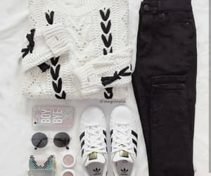clothes, outfits, and adidas image