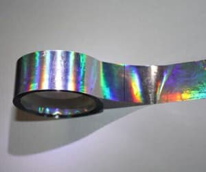 grunge, holographic, and tape image