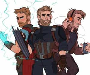 thor, captain america, and Marvel image